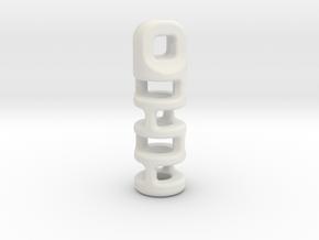 Tritium Lantern 3A (2x12mm Vial) in White Natural Versatile Plastic