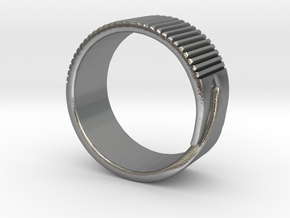 Rift Ring - EU Size 58 in Natural Silver