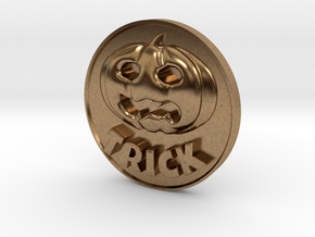 Trick Or Treat Coin in Natural Brass