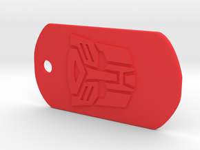 Autobot Dog Tag in Red Processed Versatile Plastic