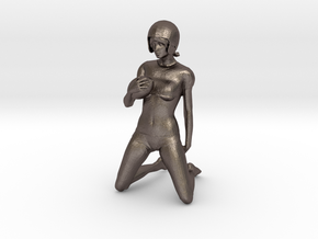 Fantasy Football in Polished Bronzed Silver Steel