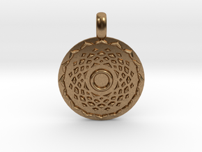 SAHASRARA Crown Chakra Jewelry Pendant in Natural Brass