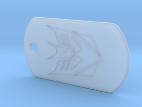 Decepticon Dog Tag in Smooth Fine Detail Plastic
