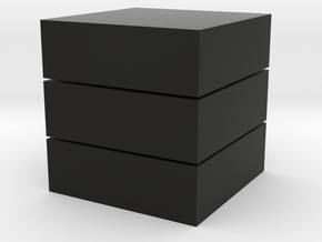 Cubic 1x1x3 4cm in Black Strong & Flexible