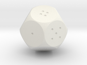 D12 Standard in White Natural Versatile Plastic
