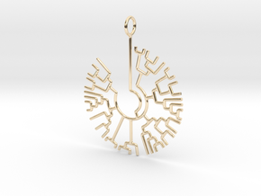 Phylogenetic Tree pendant: science jewelry in 14K Gold