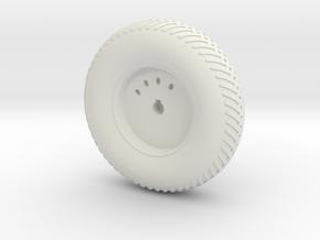 08A-LRV - Front Left Wheel in White Natural Versatile Plastic