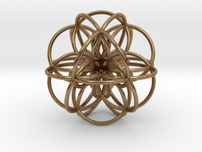 Seed of Life: Cuboctahedral Flower in Natural Brass