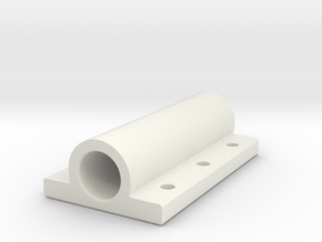 Bearing case in White Natural Versatile Plastic