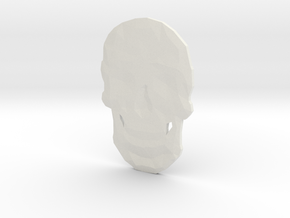 Poly Skull in White Natural Versatile Plastic