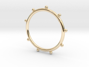 Ball Ring - Sz. 9 in 14K Yellow Gold