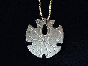 Sand Dollar Pendant in Frosted Ultra Detail