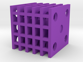 Dice14 in Purple Processed Versatile Plastic