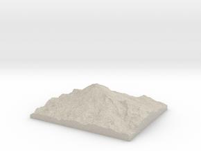 Model of East Crater in Sandstone
