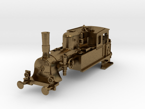 DSB F class N scale (with no tender extension) in Natural Bronze