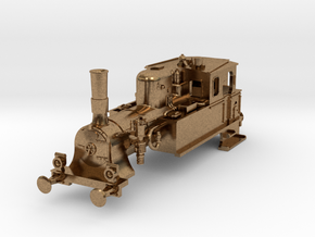 DSB F N scale (standard extended coal box) in Natural Brass