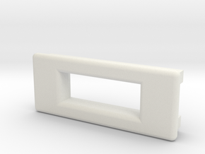 Screen Cradle - Rectangle with Filet Edges in White Natural Versatile Plastic