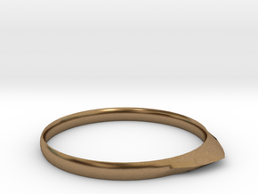 Edge Ring US Size 8 5/8 UK Size R in Natural Brass