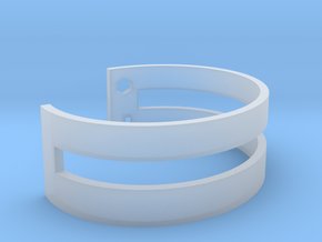 Simple Bracelet in Smooth Fine Detail Plastic