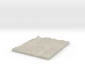 Model of Gorge Spur in Natural Sandstone