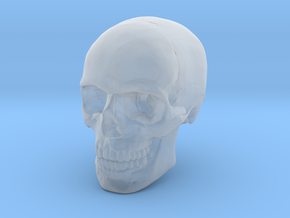 8mm 0.3in Human Skull for earring in Smooth Fine Detail Plastic