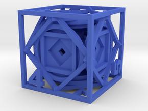 Dice17 in Blue Processed Versatile Plastic