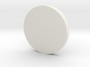 Coin in White Natural Versatile Plastic