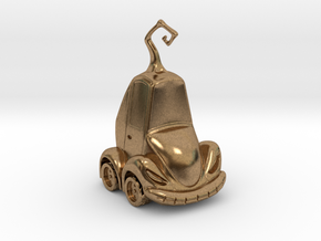 Car Jack in Natural Brass