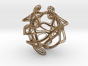 Octahedronloop in Natural Brass