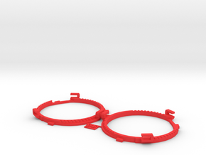 67.5mm Lens Separators | Oculus Rift DK2 in Red Strong & Flexible Polished