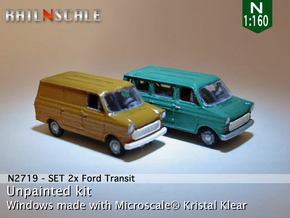 SET 2x Ford Transit (N 1:160) in Frosted Ultra Detail