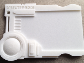 Multipass From Fifth Element #props in White Processed Versatile Plastic