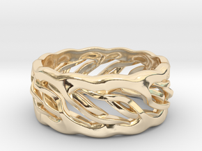 Earth Weave Ring (select a size) in 14K Yellow Gold