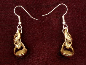 Julia's Basket Earrings in Polished Brass