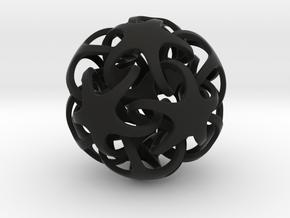 Quintrino Pendant in Black Natural Versatile Plastic