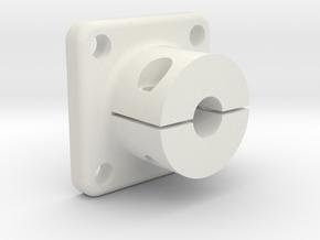 Shaft adapter 5mm in White Natural Versatile Plastic