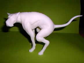 The Elegant Dog (5.7in - 15cm long) in White Strong & Flexible Polished
