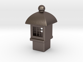 Spirit House - Tardis in Polished Bronzed Silver Steel