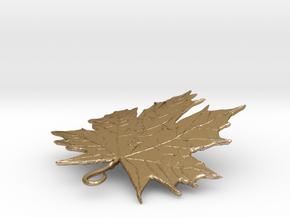 LEAF PENDANT in Polished Gold Steel