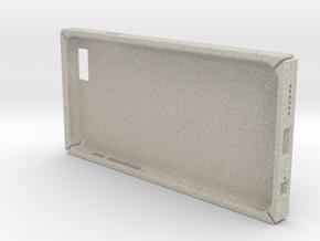 Square iPhone6/6S 4.7inch case.stl in Natural Sandstone