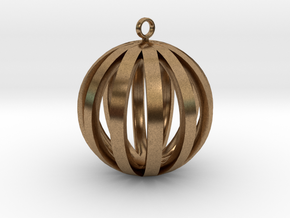 Round Pendant in Natural Brass
