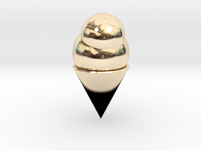 Ice Cream Cone in 14K Yellow Gold