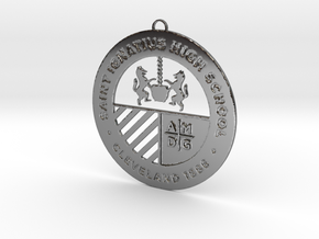 Saint Ignatius Logo Ornament 2014 in Fine Detail Polished Silver