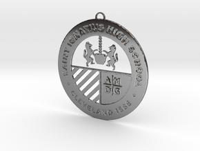 Saint Ignatius Logo Ornament 2014 in Premium Silver