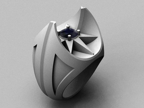 Bat Ring - Size 12 (21.49 mm) in Polished Silver