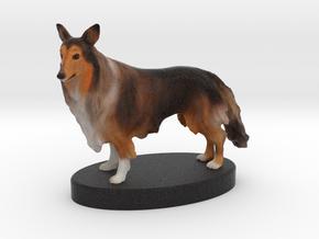 Custom Dog Figurine - Max in Full Color Sandstone