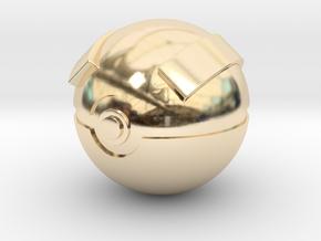 Great Ball Original Size (8cm in diameter) in 14K Yellow Gold