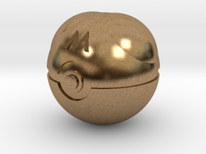 Master Ball Original Size (8cm in diameter) in Natural Brass