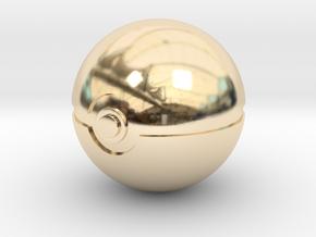 Park Ball Original Size (8cm in diameter) in 14K Yellow Gold