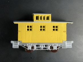 R24a New N Chassis for Bachmann Bobber Caboose x2 in Smooth Fine Detail Plastic